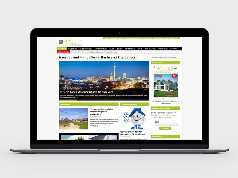 Regionales Immobilien Journal Online