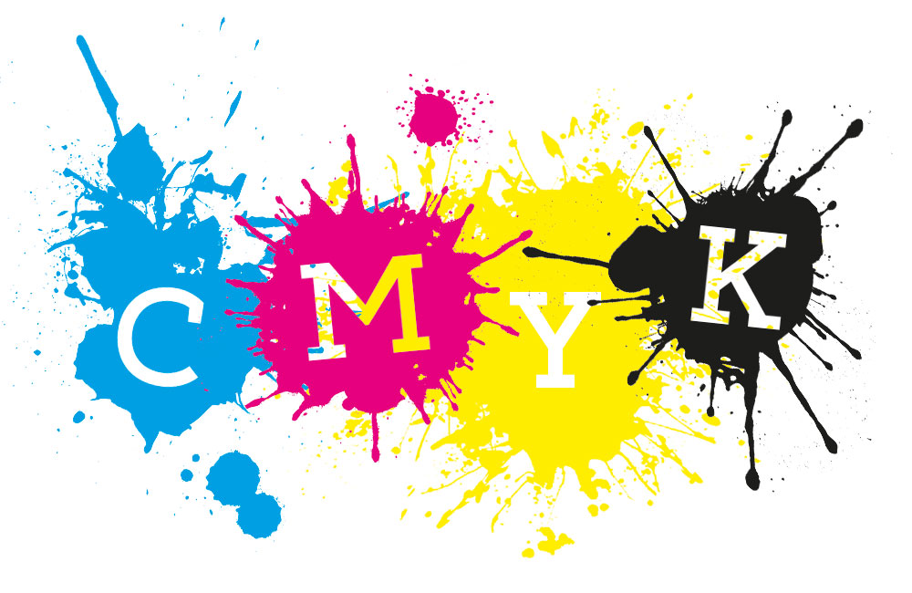 CMYK Farbklekse